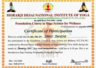 2) CERTIFICATE IN FOUNDATION COURSE IN YOGA SCIENCE FOR WELLNESS