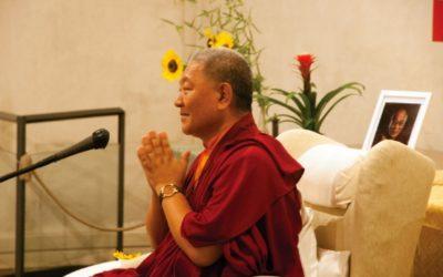 Ringu Tulku Rinpoche a Sovizzo e Vicenza, settembre 2016