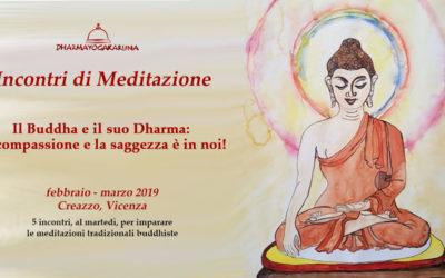 Ciclo di 5 incontri di Dharma e Meditazione