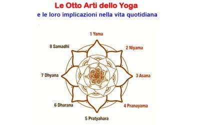 Le Otto Arti dello Yoga  e le loro implicazioni nella vita quotidiana