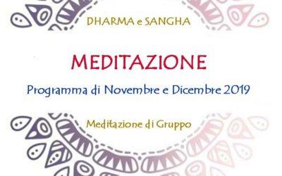 DHARMA e SANGHA MEDITAZIONE DI GRUPPO