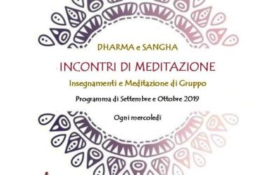 DHARMA e SANGHA incontri di meditazione