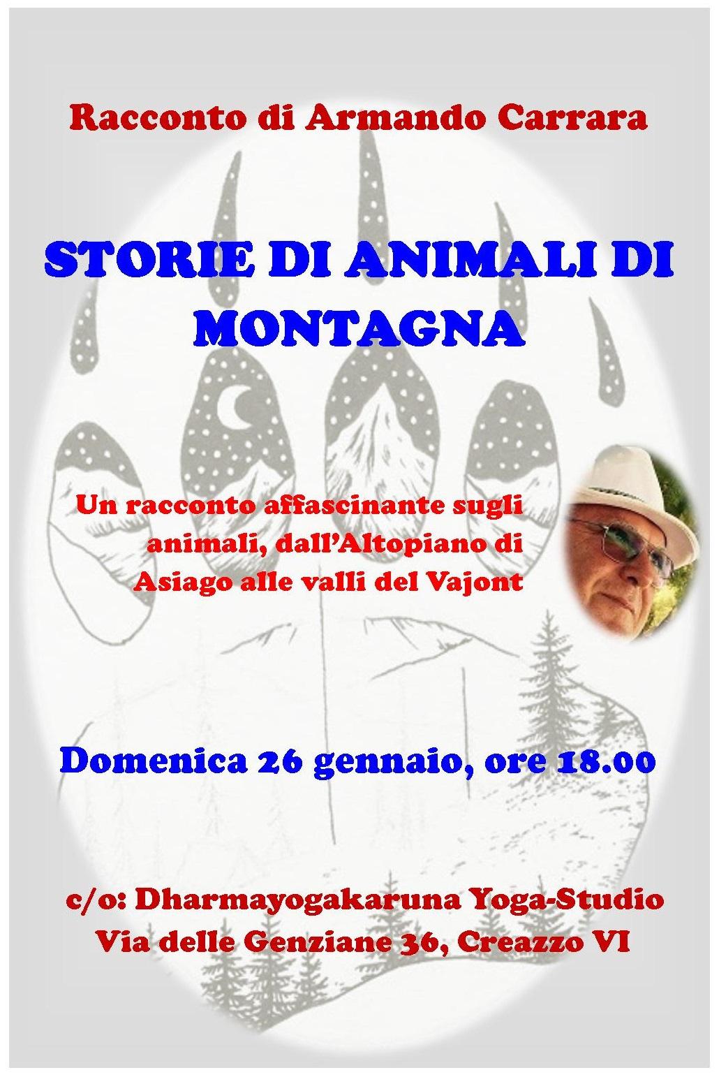 Evento Culturale: STORIE DI ANIMALI DI MONTAGNA, racconto di Armando Carrara