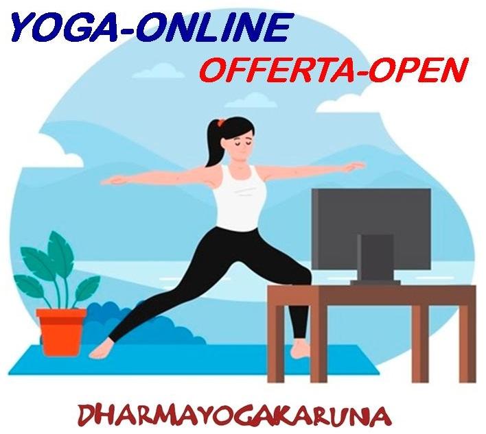 YOGA-ONLINE OFFERTA-OPEN da lunedì 11 gennaio per 4 settimane!